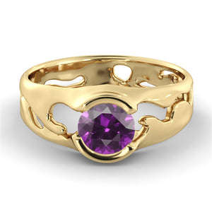 "1 Carat 14K Rose Gold Amethyst ""Diane"" Engagement Ring"