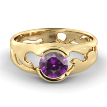 "Load image into Gallery viewer, 1 Carat 14K Yellow Gold Amethyst ""Diane"" Engagement Ring"