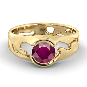 "2 Carat 14K Yellow Gold Ruby ""Diane"" Engagement Ring"