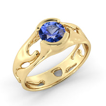 "Load image into Gallery viewer, 1 Carat 14K White Gold Blue Sapphire ""Diane"" Engagement Ring 