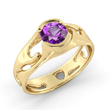 "Load image into Gallery viewer, 1 Carat 14K White Gold Amethyst ""Diane"" Engagement Ring"