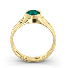 "Load image into Gallery viewer, 1 Carat 14K White Gold Emerald ""Diane"" Engagement Ring 
