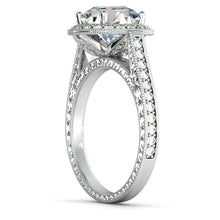 "Load image into Gallery viewer, 2.2 Carat 14K Moissanite Rose Gold Moissanite & Diamonds ""Barbara"" Ring"