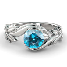 "Load image into Gallery viewer, 1 Carat 14K White Gold Aquamarine ""Felicia"" Engagement Ring"