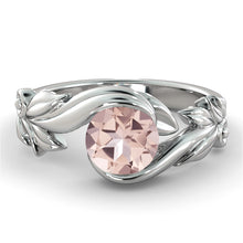 "Load image into Gallery viewer, 1 Carat 14K Rose Gold Morganite ""Felicia"" Engagement Ring 