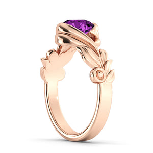 "1 Carat 14K Rose Gold Amethyst ""Felicia"" Engagement Ring"