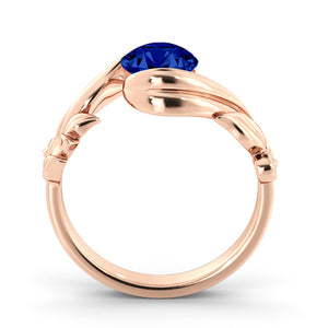 "1 Carat 14K White Gold Blue Sapphire ""Felicia"" Engagement Ring"