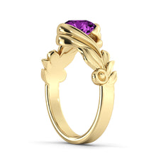 "Load image into Gallery viewer, 1 Carat 14K Rose Gold Amethyst ""Felicia"" Engagement Ring"