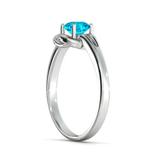 "Load image into Gallery viewer, 0.5 Carat 14K White Gold Blue Topaz ""Laura"" Engagement Ring 