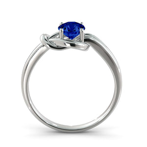 "0.5 Carat 14K Yellow Gold Blue Sapphire ""Laura"" Engagement Ring"