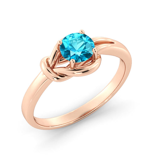 0.5 Carat 14K Rose Gold Aquamarine