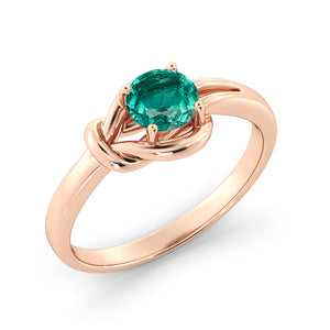 0.5 Carat 14K Rose Gold Emerald