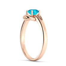 "Load image into Gallery viewer, 0.5 Carat 14K Yellow Gold Blue Topaz ""Laura"" Engagement Ring"