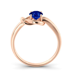 "0.5 Carat 14K Rose Gold Blue Sapphire ""Laura"" Engagement Ring"