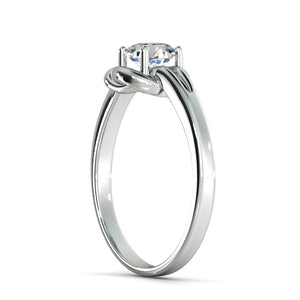 "0.5 Carat 14K White Gold Diamond ""Laura"" Engagement Ring"