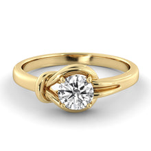 "Load image into Gallery viewer, 0.5 Carat 14K Yellow Gold Moissanite ""Laura"" Engagement Ring - Diamonds Mine"