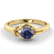 "Load image into Gallery viewer, 0.5 Carat 14K White Gold Blue Sapphire ""Laura"" Engagement Ring"