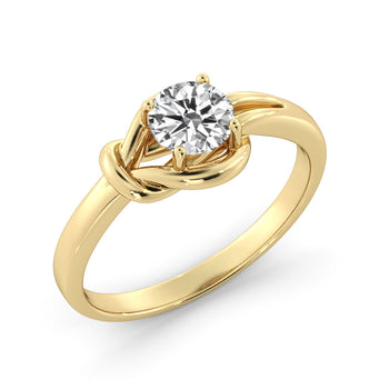 "0.5 Carat 14K Yellow Gold Diamond ""Laura"" Engagement Ring - Diamonds Mine"