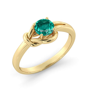 "0.5 Carat 14K Rose Gold Emerald ""Laura"" Engagement Ring"