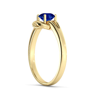 "0.5 Carat 14K White Gold Blue Sapphire ""Laura"" Engagement Ring"
