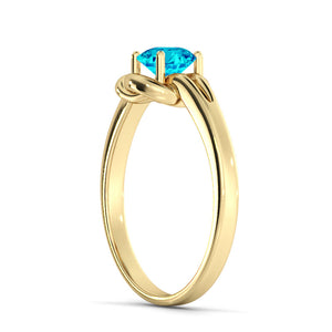 "0.5 Carat 14K Yellow Gold Aquamarine ""Laura"" Engagement Ring"