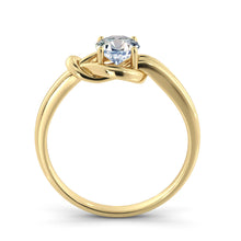 "Load image into Gallery viewer, 0.5 Carat 14K Yellow Gold Moissanite ""Laura"" Engagement Ring"