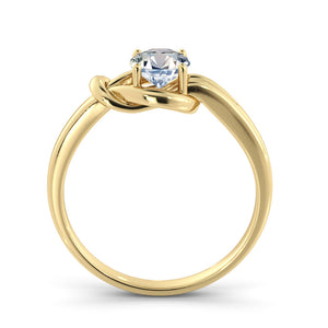 "0.5 Carat 14K Yellow Gold Moissanite ""Laura"" Engagement Ring"