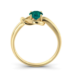 "0.5 Carat 14K White Gold Emerald ""Laura"" Engagement Ring"