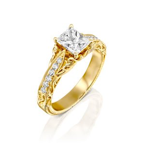 "0.9 Carat 14K White Gold Diamond ""Kira"" Engagement Ring"