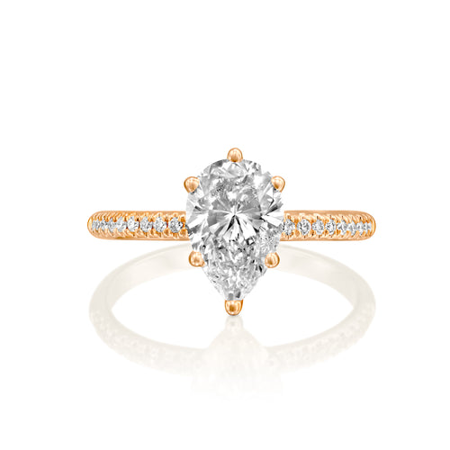 0.94 Carat 14K Rose Gold Moissanite