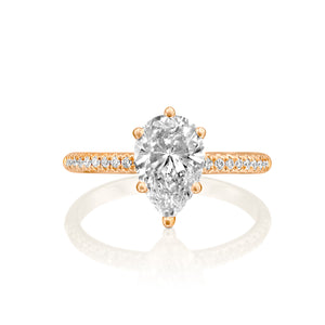 "1.7 Carat 14K Rose Gold Moissanite & Diamonds ""Lucy"" Engagement Ring"