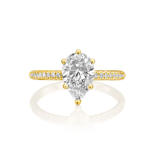 0.94 Carat 14K Yellow Gold Moissanite