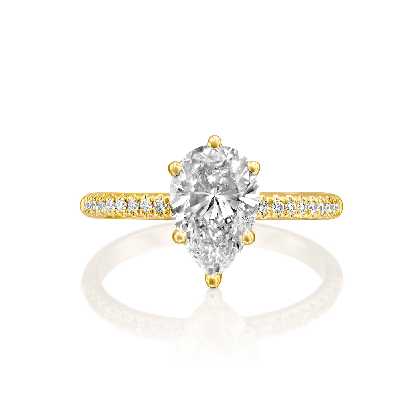 2.3 Carat 14K Yellow Gold Moissanite & Diamonds