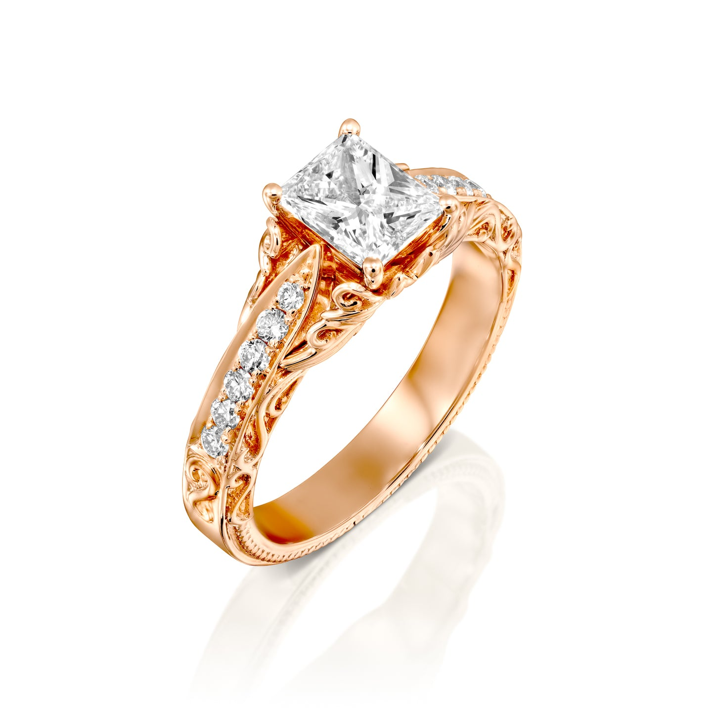 0.7 Carat 14K Rose Gold Diamond