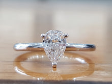 "Load image into Gallery viewer, 1 Carat 14K White Gold Diamond ""Dorothy"" Engagement Ring - Diamonds Mine"