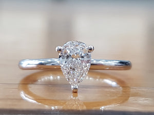 "1 Carat 14K White Gold Diamond ""Dorothy"" Engagement Ring - Diamonds Mine"
