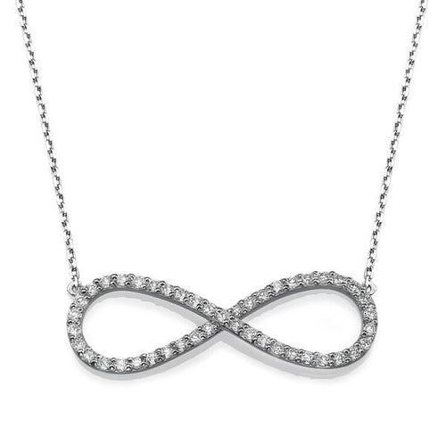 Infinity Diamond Pendant Gold Necklace - Diamonds Mine