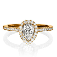 "Load image into Gallery viewer, 1.4 Carat 14K Yellow Gold Moissanite & Diamonds ""Caroline"" Engagement Ring"
