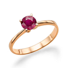 "Load image into Gallery viewer, 0.2 Carat 14K White Gold Ruby ""Vivian"" Engagement Ring"