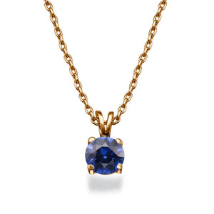 "0.3 Carat 14K White Gold Blue Sapphire ""Una"" Pendant 