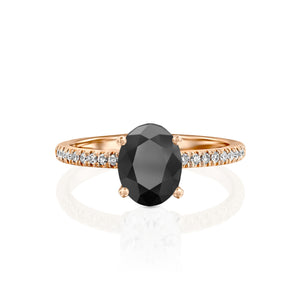 "1.1 Carat 14K Yellow Gold Black Diamond ""Shanon"" Engagement Ring"