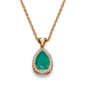 "2.25 TCW 14K White Gold Emerald ""Tamara"" Pendant 