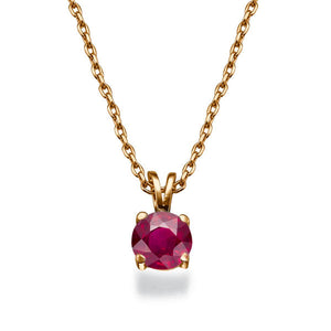 "0.3 Carat 14K Yellow Gold Ruby ""Una"" Pendant"