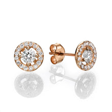 "Load image into Gallery viewer, 0.8 Carat 14K Yellow Gold Diamond ""Caroline"" Earrings"
