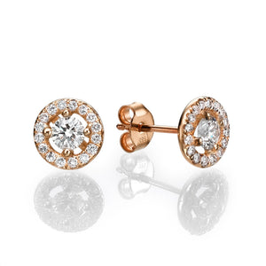 "0.8 Carat 14K Yellow Gold Diamond ""Caroline"" Earrings"