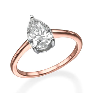"1 Carat 14K Yellow Gold Diamond ""Marta"" Engagement Ring"