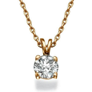 "0.4 Carat 14K Yellow Gold Diamond ""Una"" Pendant"