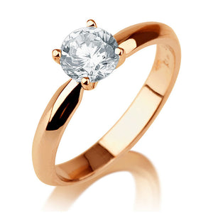 "1.5 Carat 14K White Gold Diamond ""Mary"" Engagement Ring"