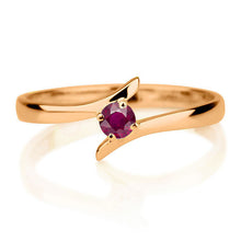 "Load image into Gallery viewer, 0.2 Carat 14K Yellow Gold Ruby ""Isabel"" Engagement Ring"