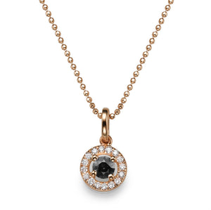 "0.45 TCW 14K White Gold Black Diamond ""Carole"" Pendant 